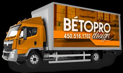 Lettrage Cube - Wrap camion livraison