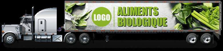 Lettrage Camion Lourd - Lettrage Semi remorque